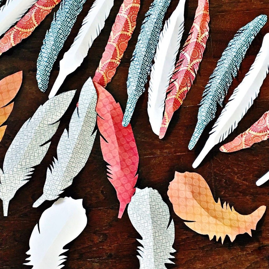 Paper Feather Garland - 2 Bees in a Pod