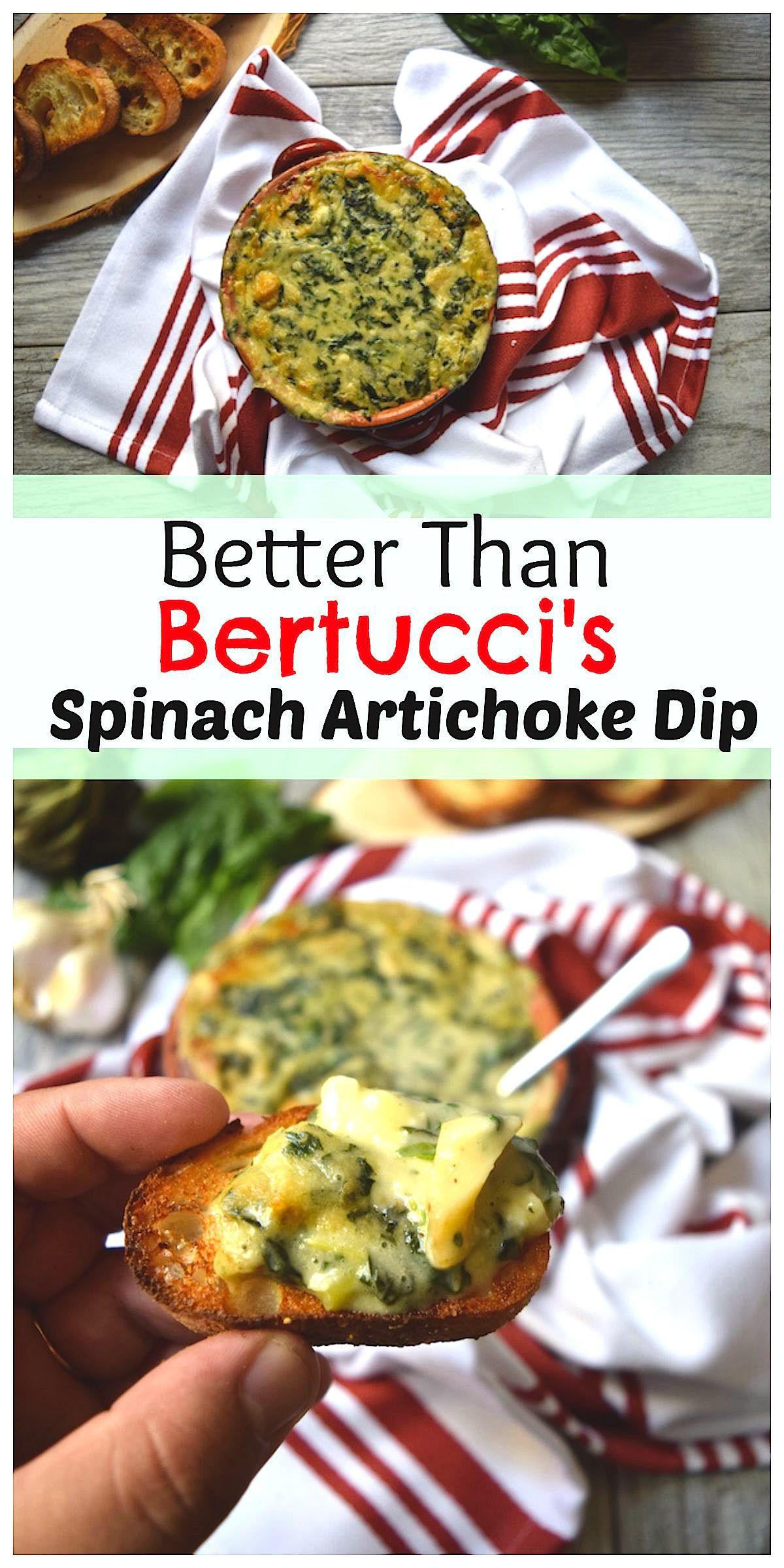 Better than bertuccis spinach artichoke dip recipe