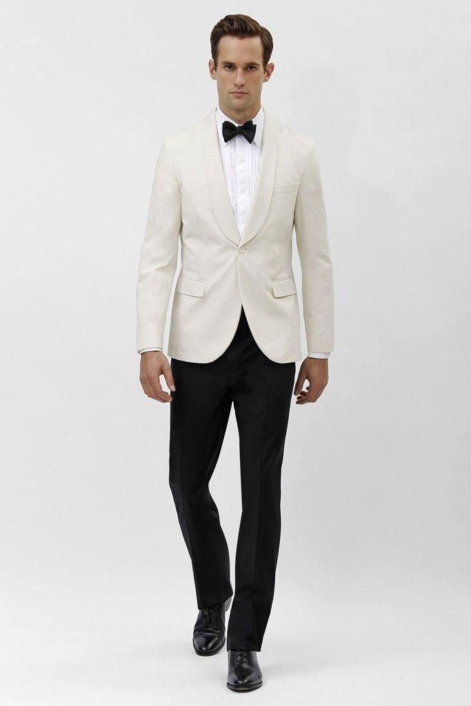 Ivory grooms suits Tuxedos shawl Lapel wedding suits for Men 2015 ...