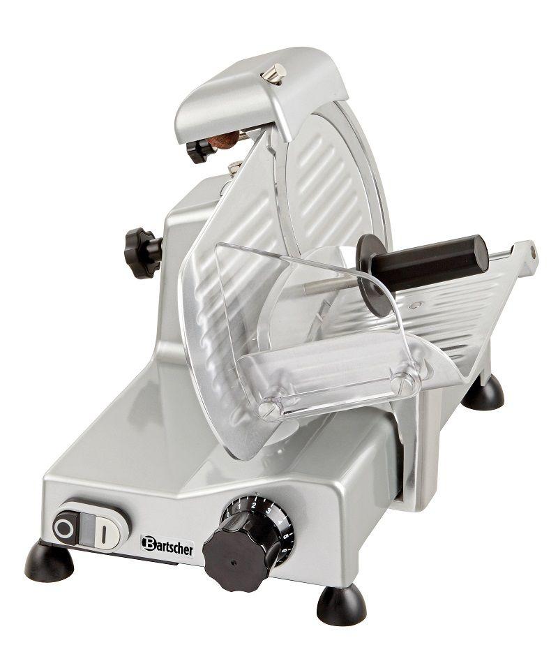 Die Bartscher Aufschnittmaschine 195 eignet sich ideal für den gastronomischen und industriellen Einsatz. Die Messerscheiben sind ganz einfach austauschbar.                           Ausstattung:...