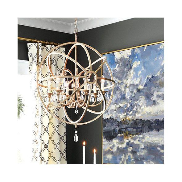 Nicolette Crystal Orb Chandelier Ballard Designs