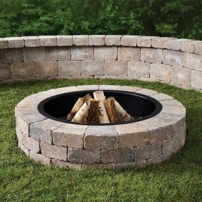 Anchor 52 In Northwoods Fresco Round Fire Pit Kit With Metal Liner 600355nor At The Home Depot 299 Fire Pit Liner In Ground Fire Pit Fire Pit Construction