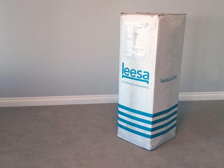 Leesa Mattress Box On Carpet Leesa Mattress Mattresses Reviews Mattress