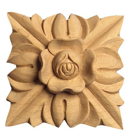 -SQ X- Small flowered square applique  rosette