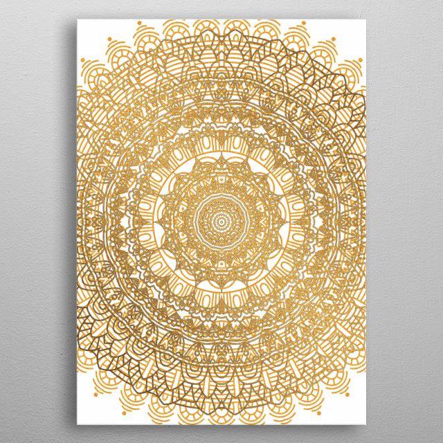 #gold #goldenmandala #mandalagold #luxurymandala #indian   Displate thumbnail