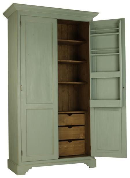 Free Standing Kitchen Larder   Iu0027d Use This As A Pantry On One Side And  Vacuum/broom/mop Storage.