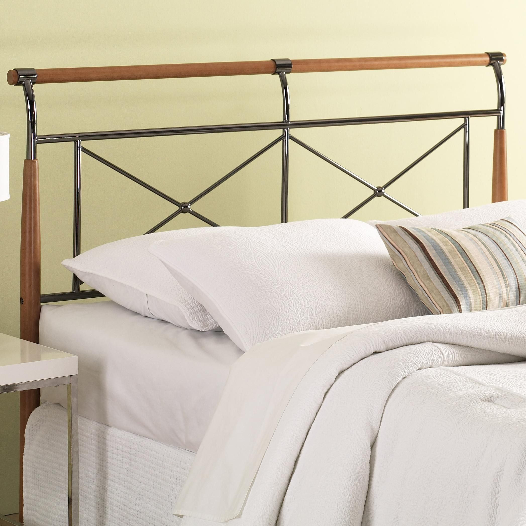 Wood and Metal Beds Queen Kendall Headboard by Fashion Bed
