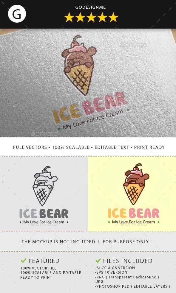 Ice Bear Logo Design