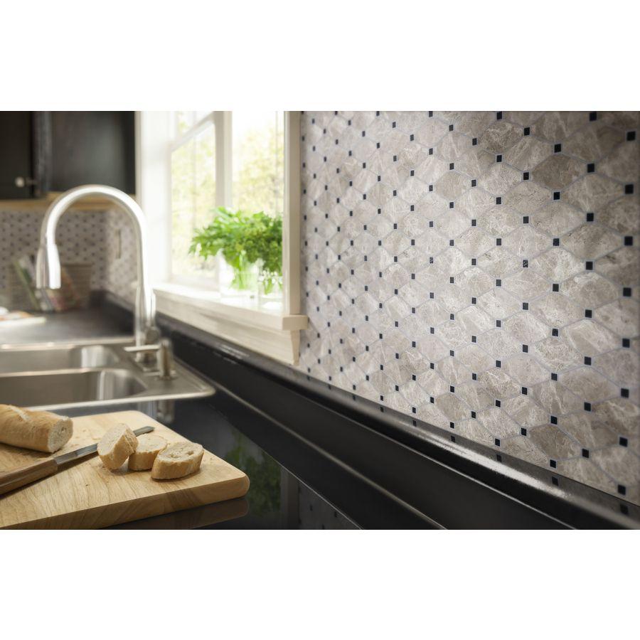 Shop Anatolia Tile Silver Creek Diamond Mosaic Wall Tile