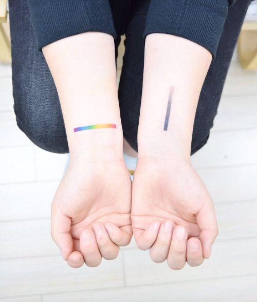 cefd163b6 Rainbow gradient tattoo | Tatted | Rainbow tattoos, Wrist tattoos ...