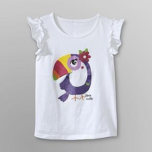 WonderKids Toddler Girl's Ruffled T-Shirt - Toucan - Baby - Baby & Toddler Clothing - Tops