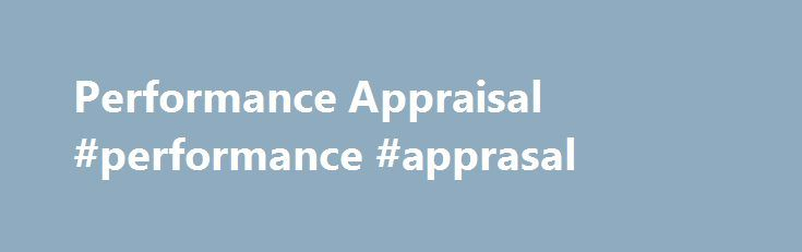 Performance Appraisal Performance Apprasal HttpNetherlands