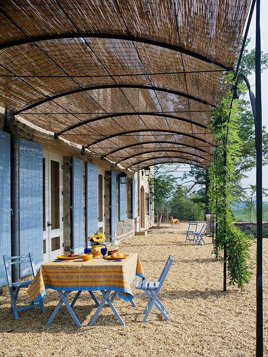 country french style home ideas gardens patio shade outdoor rh pinterest com