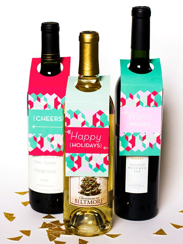 Superb Wine Gifts For Christmas Part - 1: DIY Holiday Hostess Gifts. Diy Christmas CraftsChristmas WineChristmas ...