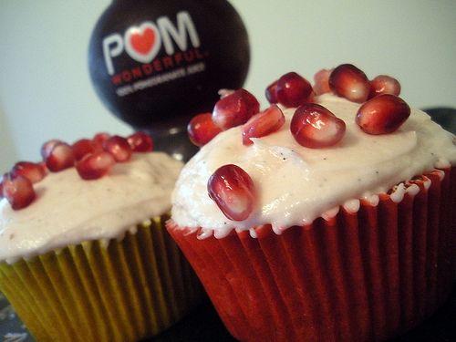 Pomegranate Cupcakes <3