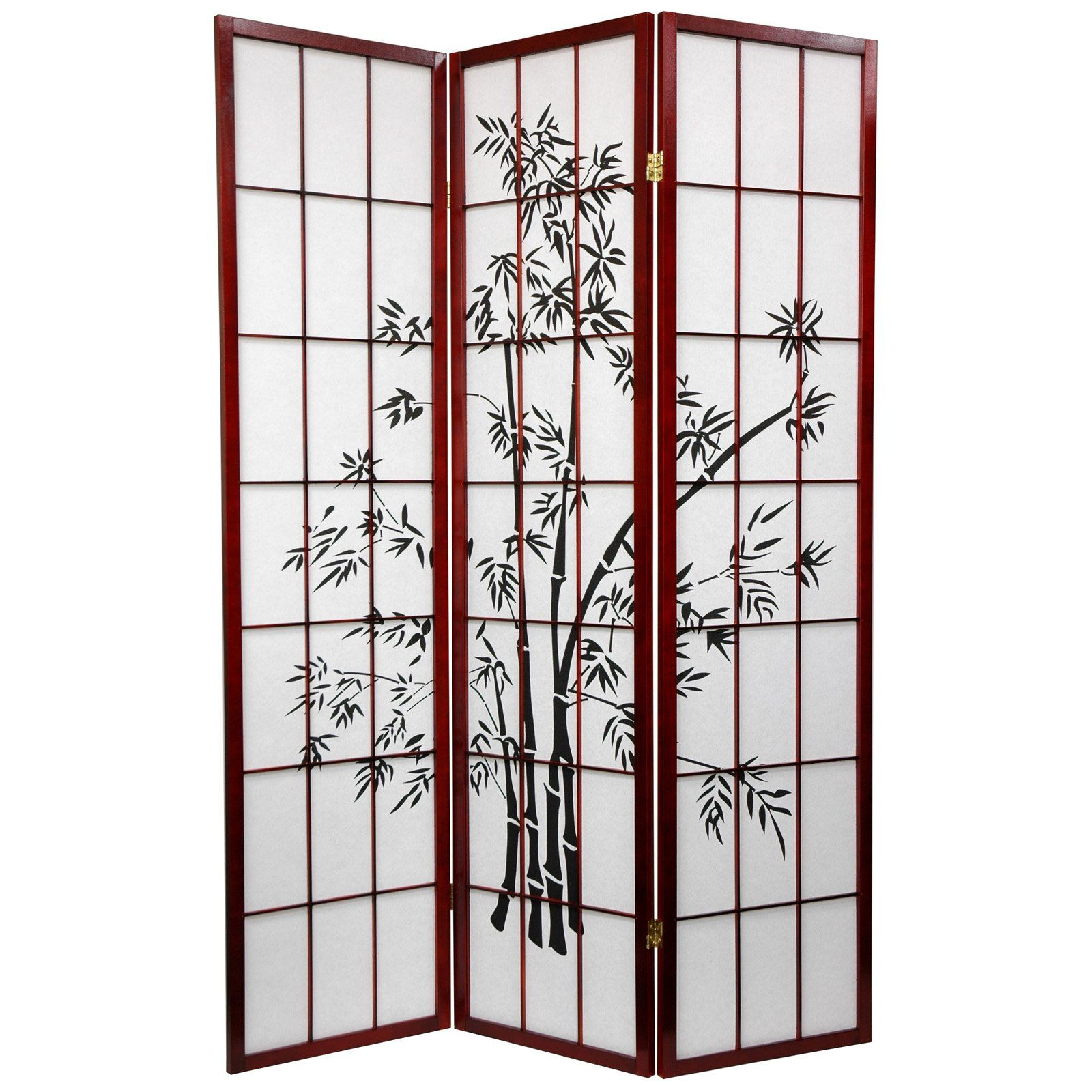 Oriental furniture lucky bamboo rosewood room divider sslucky