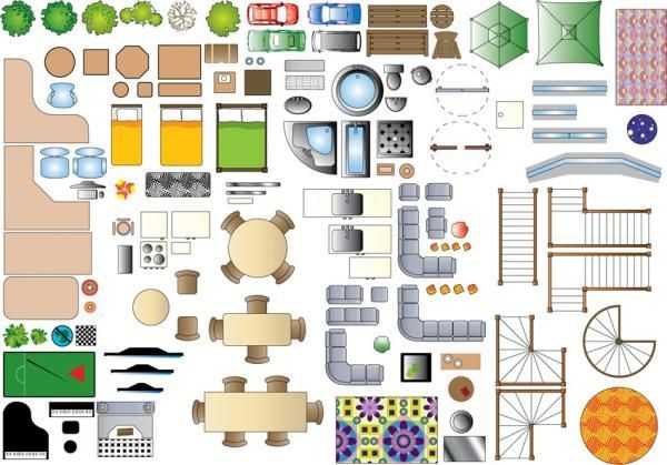 1 100 Scale Furniture Templates Google Search Floor Plan