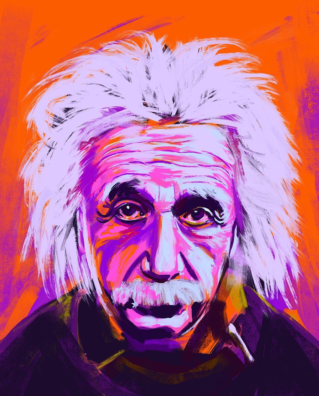 Albert Einstein Colour Theory Study