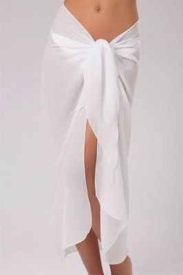 9434bfa5c531b Pareos and Sarongs sheer white | La Palapa Sarong Pareo Beachwear  Resortwear 102G white