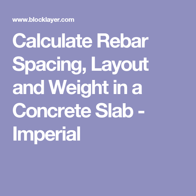Calculate Rebar Ing Layout And