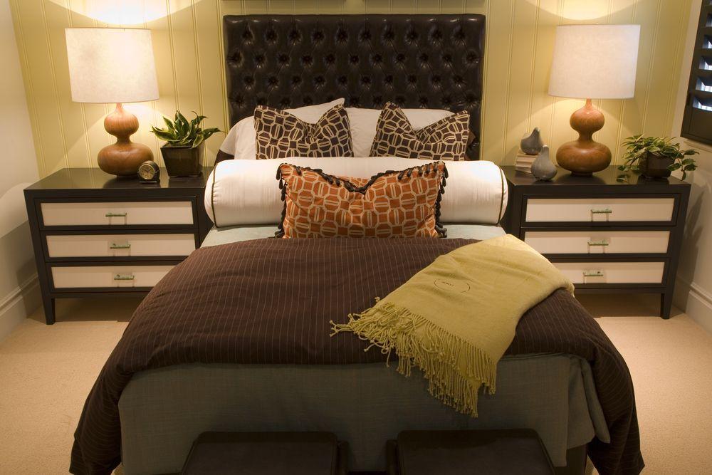 50 Professionally Decorated Master Bedroom Designs Photos Dark Brown