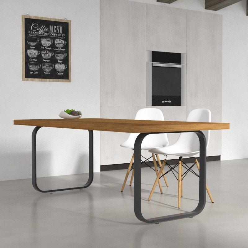 Tavolo da cucina Irving in legno massello