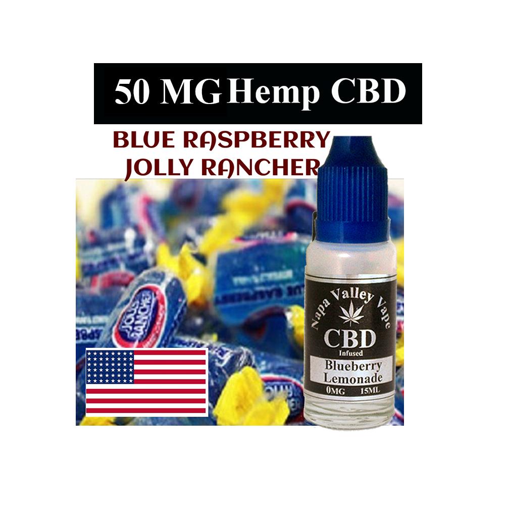 Liquid vape 50mg CBD Hemp e juice HempVap 15ml Blue