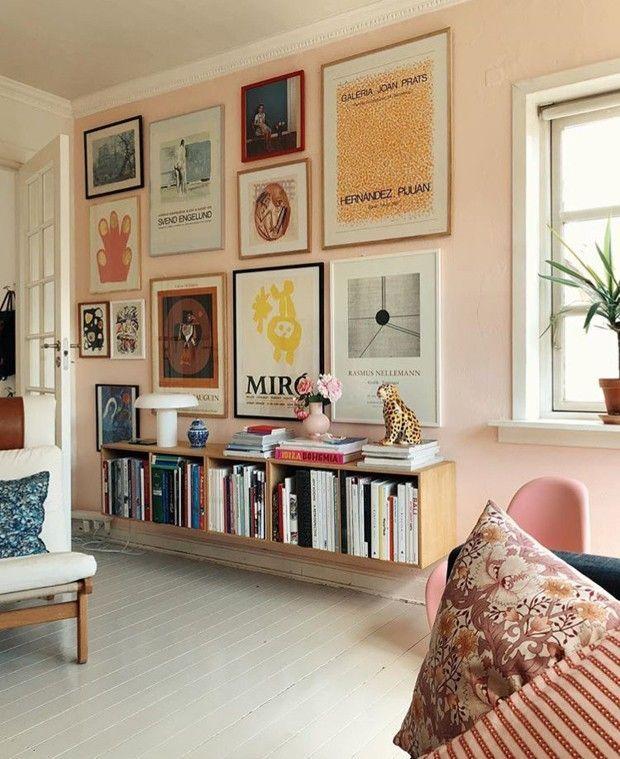 Photo of Décor do dia: gallery wall na sala de estar rosa
