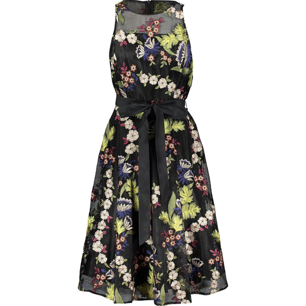 dc56e329ad9 Black Floral Embroidered Dress - Clothing - Partywear - Occasionwear -  Women - TK Maxx
