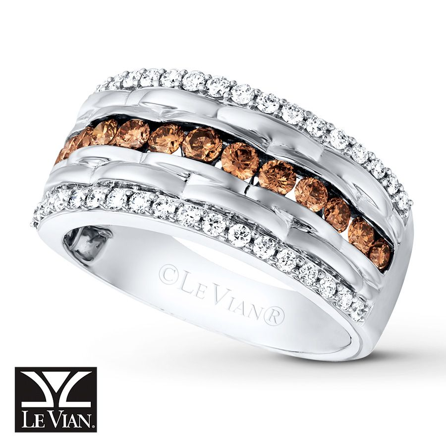 Le Vian Diamond Mens Band 1 3 Ct Tw 14K Vanilla Gold