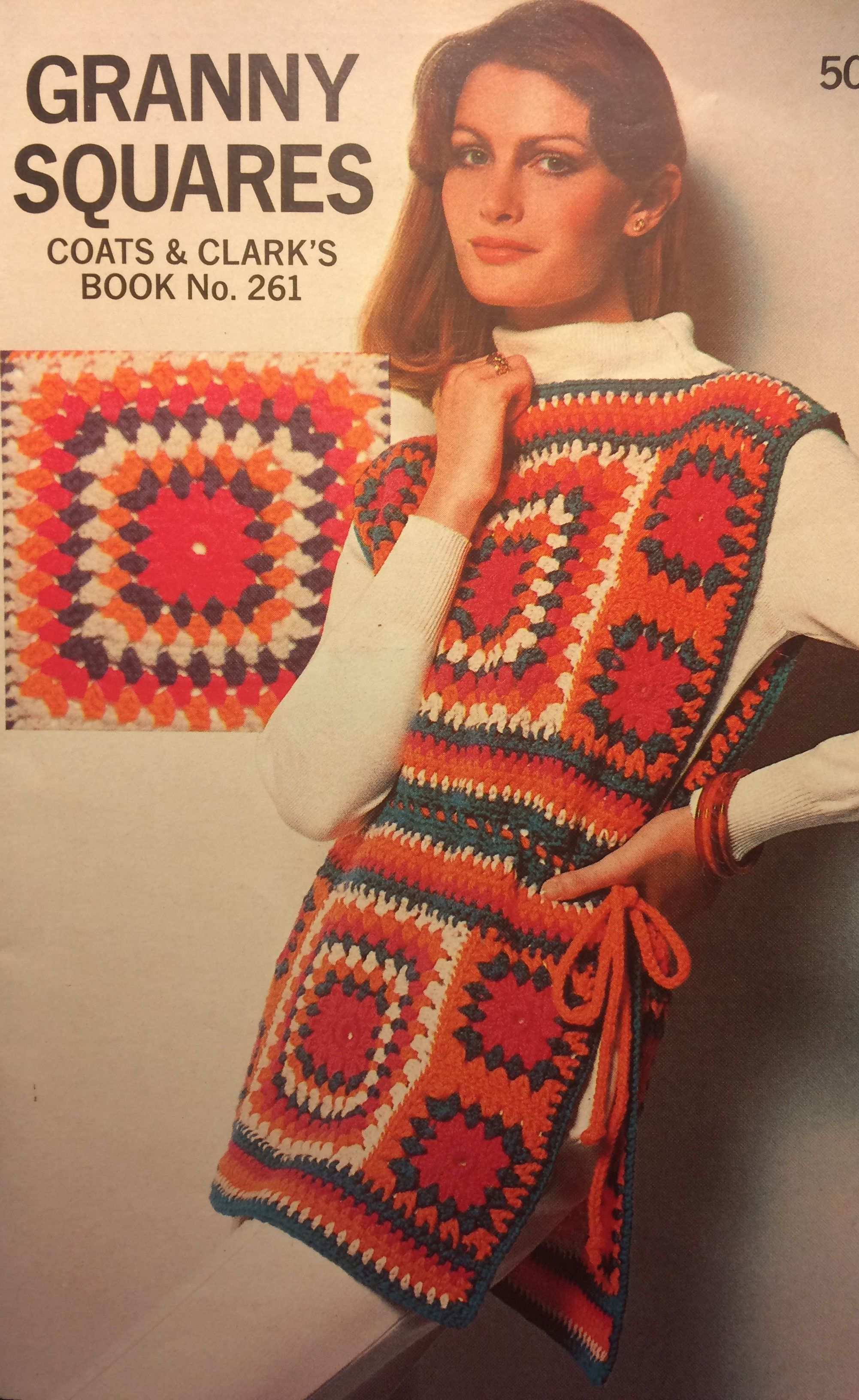 Tunic Or Tabard Free Vintage Crochet Granny Square Pattern Extra