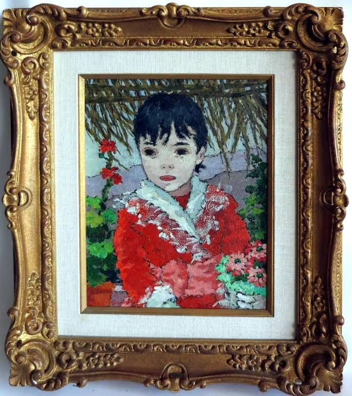 """Suzanne Eisendieck painting, it is oil on canvas 10 1/2 x 13 7/8 or 27 x 36 cm. With the frame it measures 18 1/2"""" x 21 1/2"""" and is ready to hang. The painting is in pristine condition, it is signed lower left side """"Suzanne Eisendieck"""" it is also titled """"Petit Garcon D'Honneur"""" on the reverse. This painting has Christie's auction provenance 2008 New York sales room. Suzanne Eisendieck (1908 - 1988) – ID# 2192 - $2,950.00 (Blunt Antiques) #antiques #paintings"""