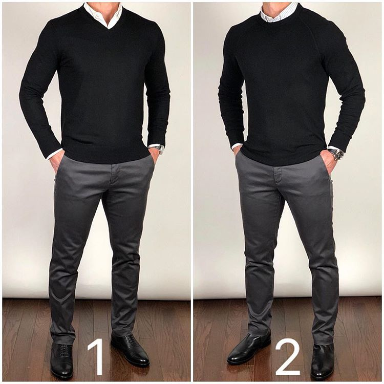 Hich do you like better   neck sweater or crewneck also latest pants ideas for men casual outfit menswear in rh pinterest