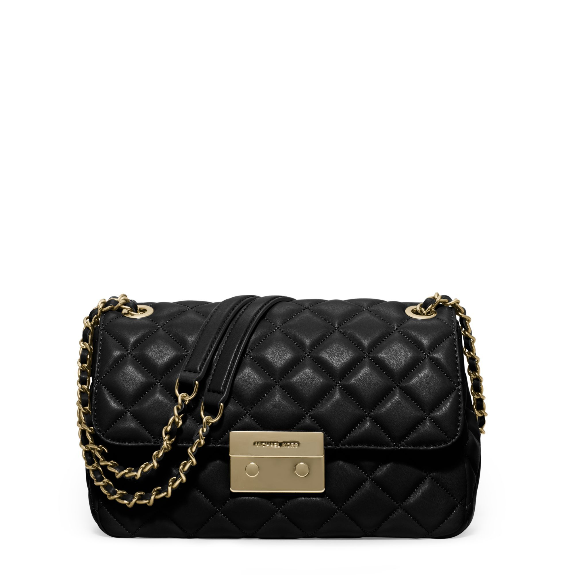 Women's Black Sloan Large Quilted-leather Shoulder Bag | Michael ...