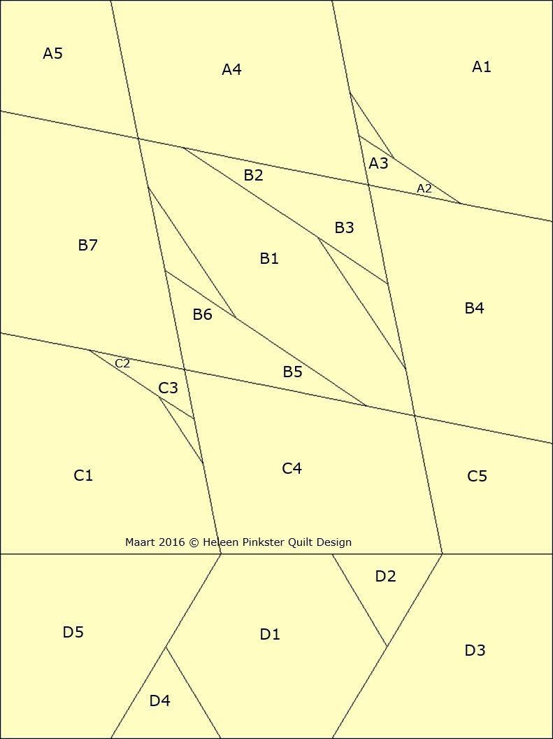 Patchwork patroon: Tussenbaan 4