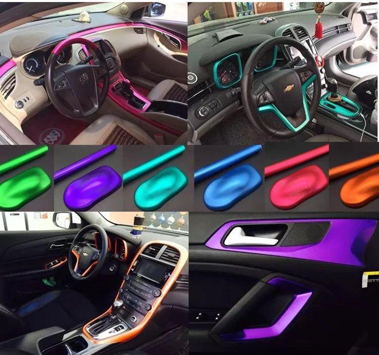 Matte Metallic Vinyl Car Wrap DIY Vinyl Wrap Car Contours And - Custom vinyl decals for car interior