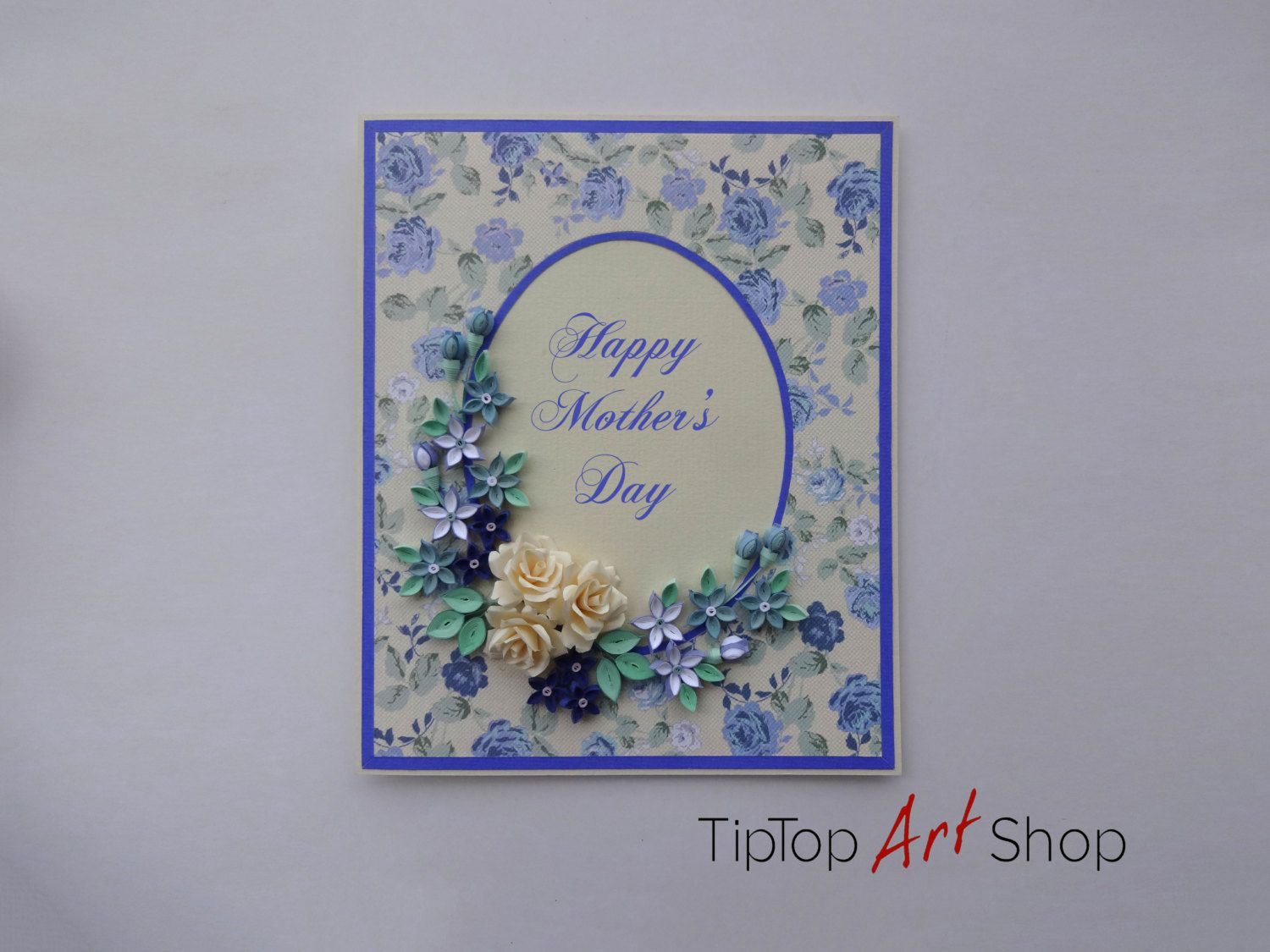 Handmade paper quilling greeting card with 3d flowers by handmade paper quilling greeting card with 3d flowers by tiptopartshop on etsy kristyandbryce Images
