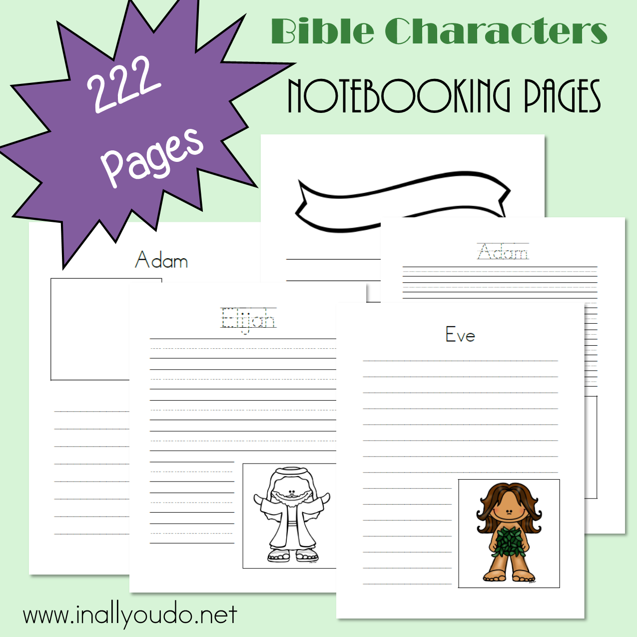 12 Bible Characters Notebooking Pages 222 Pages With