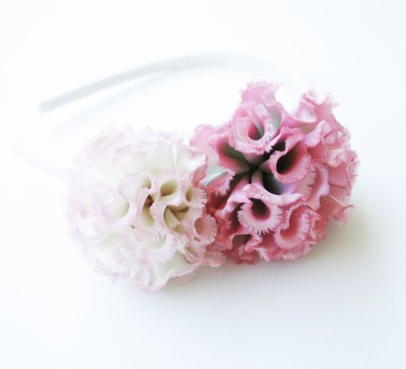 Ivory and Pink Hanah Silk Flower Headband. by SilkPetalsBoutique, $16.95