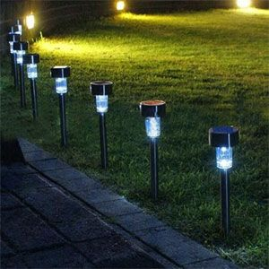 Solar Outdoor Led Landscaping Lamp 4 Pack 29 With With Images Led Garden Lights Outdoor Path Lighting Led Outdoor Lighting