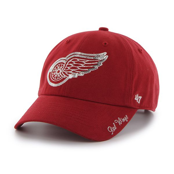 bba13694f24 Detroit Red Wings Sparkle Team Color Clean Up Red 47 Brand Womens ...