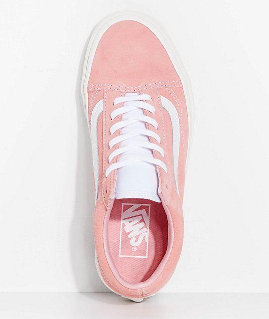 Vans Old Skool Blossom Pink Retro Sport Skate Shoes (With