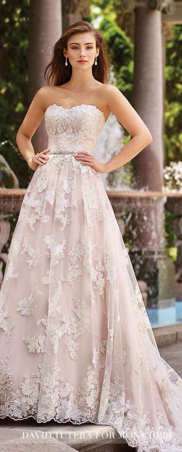 Wedding trends blushing bridal gowns with mon cheri bridals