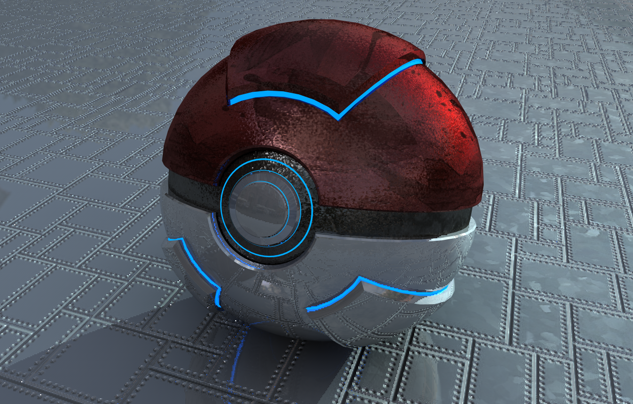 Realistic Pokeball by on