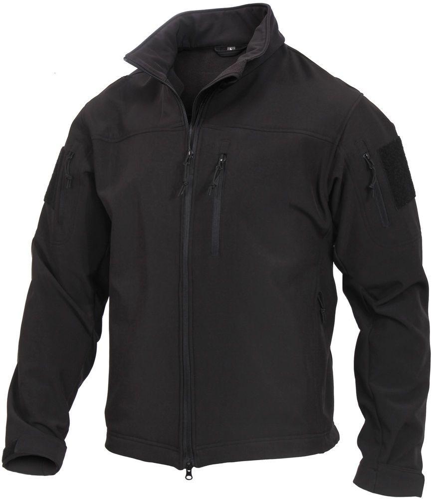 Ex Police Soft Shell Female Male Breathable Black Fleece Winter Warm