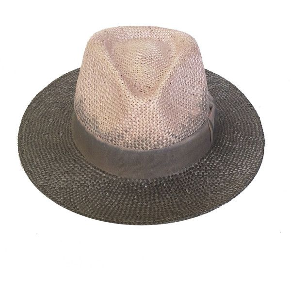 da2f88594 Justine Hats Two tone light pink straw fedora hat (£120) ❤ liked on ...