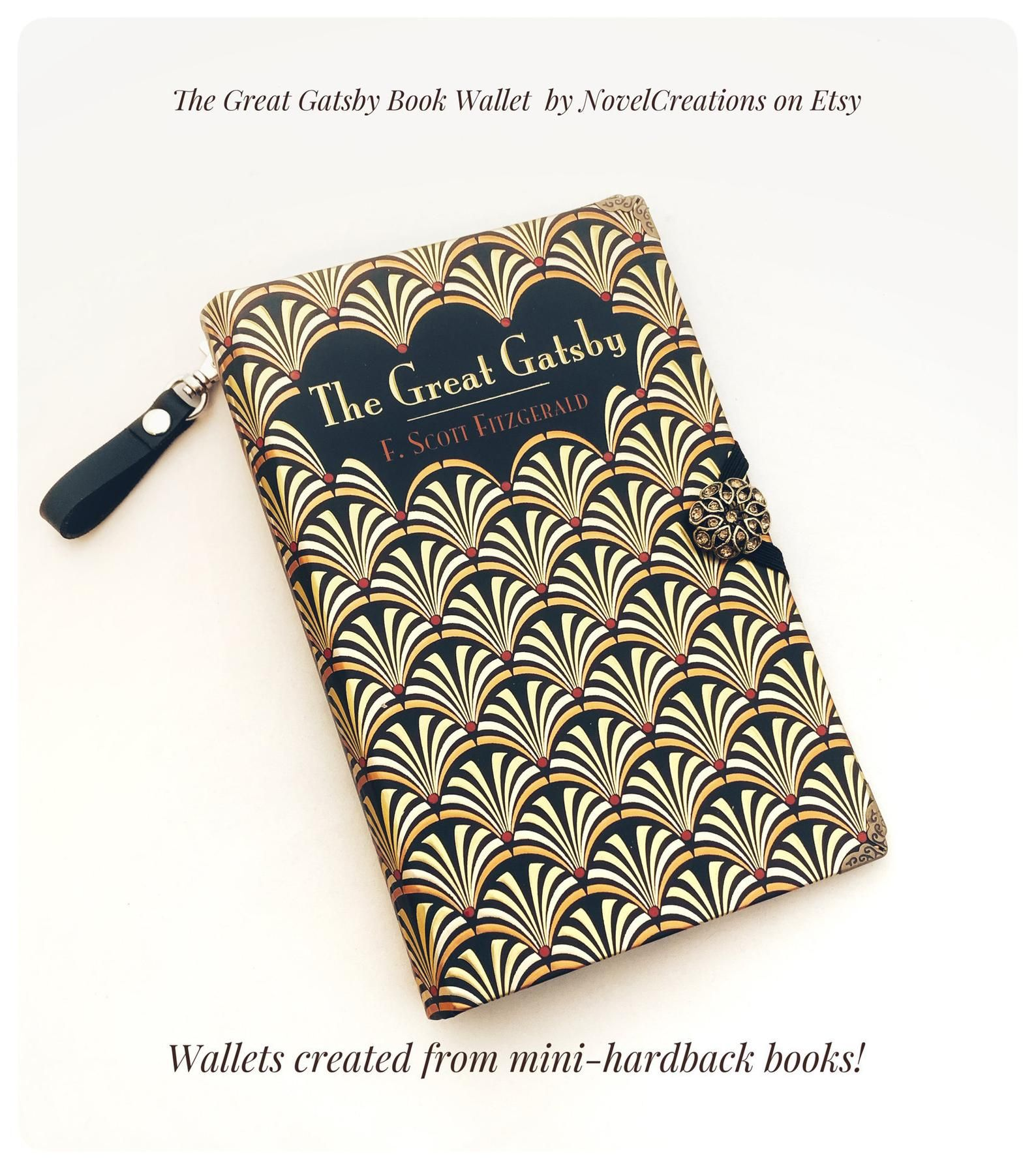 The Great Gatsby Book Cover Wallet