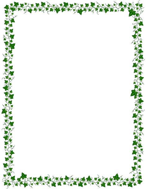 Vine Border Clip Art Page Border And Vector Graphics Page Borders Borders For Paper Clip Art