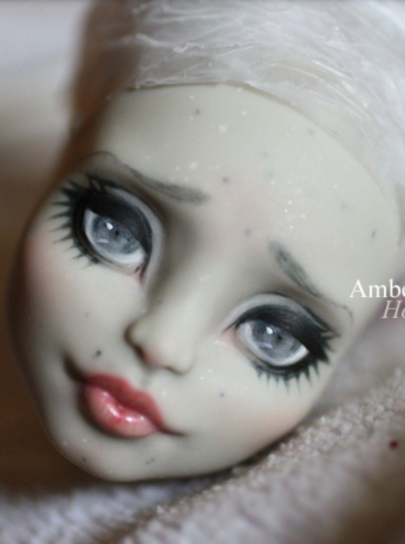 Amber Honey Face Up W Watercolor Pencils Ooak Dolls Custom Dolls