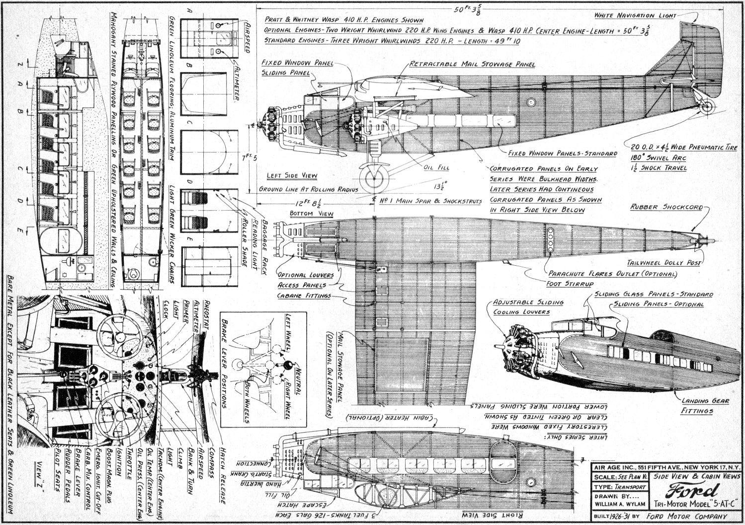 Tri Motor Model Plans Ford Tri Motor